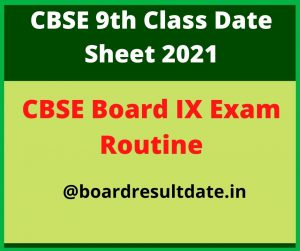 CG 9th Class Time Table