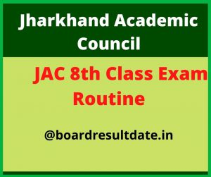 JAC 8th Time Table